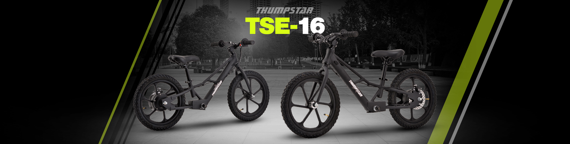 Thumpstar TSE16 | Electric Balance Bike Banner for Desktop