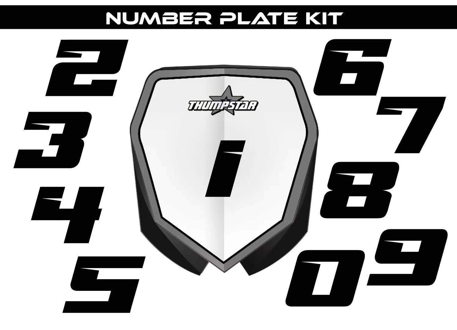 Thumpstar TSE12 Number Plate